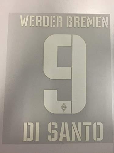 Flock Original Trikot SV Werder Bremen 23cm - DI Santo 9