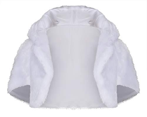 Lacey bell soffice coprispalle pelliccia sintetica bambina stola prima comunione scialle cj80