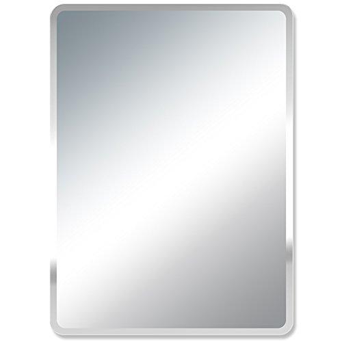 GUOWE-yushijing GUOWEI Spiegel Rechteck Hochauflösend Rahmenlos An Der Wand Montiert Badezimmer Bilden Eitelkeit 4 Größe (Farbe : Silber, größe : 40x60cm) -