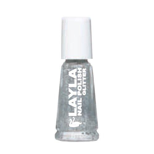 LAYLA COSMETICS Silver Glitter Emaille Maniküre-Nagel-Kunst -