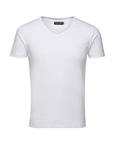 b37f8b514740e6 JACK   JONES 3er Pack Herren T-Shirt Basic V-Ausschnitt oder Rundhals  einfarbig ...