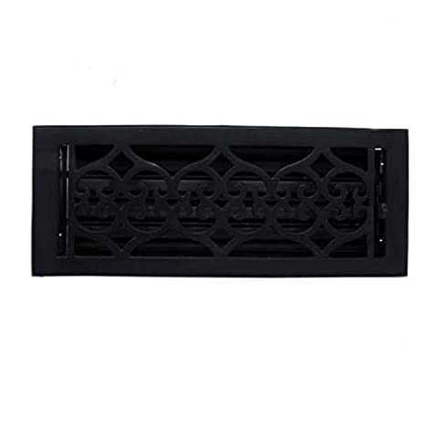 Adonai Hardware Flower Cast Iron Wall Register with Louver - 4