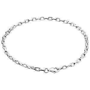 Nenalina Armband 925 Sterling Silber Bettelarmband für alle gängigen Charms Anhänger Breite 3 mm Länge bis 22 cm – 873009-022