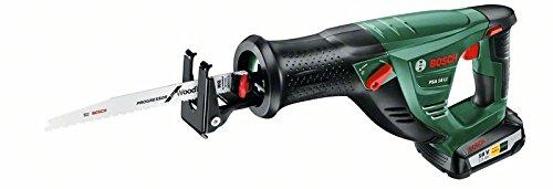 Preisvergleich Produktbild Bosch DIY Akku-Säbelsäge PSA 18 LI, Akku, Ladegerät, 1 Sägeblatt S3456 XF, Karton (18 V, 2,5 Ah, 100 mm Schnitttiefe in Holz, 20 mm Schnitttiefe in Stahl)