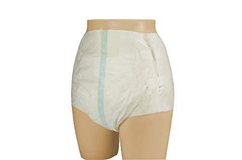VIDIMA Inkontinenzslips mit Klebestreifen in der Größe M | 1 Testexemplar | Erwachsenen-Windel für leichte/mittlere Inkontinenz & Blasenschwäche | Hüftumfang: 70 – 120 cm | diskrete & bequeme Windelhose