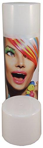 Color Haarspray 250ml | 7 Farben | Haarfarben Fasching Karneval Halloween farbig (Weiß)