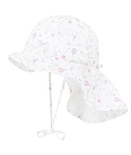 Döll Baby-Mädchen Mütze Sonnenhut mit Nackenschutz, Rosa (Pink 2720), 47