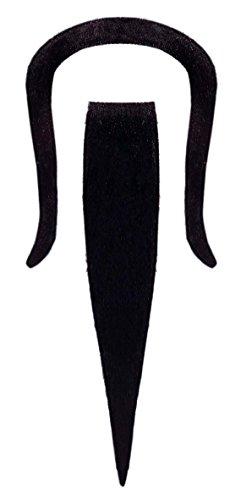 KULTFAKTOR GmbH Chinese Bart Kostüm-Zubehör schwarz Einheitsgröße (Asiatisch Bart Kostüm)