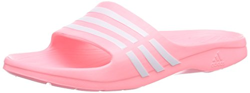 adidas Performance Duramo Sleek, Damen Dusch- & Badeschuhe, Pink (Light Flash Red S15/Ftwr White/Light Flash Red S15), 42 EU (8 Damen UK)