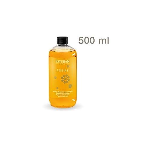 Recharge pour bouquet parfumé 500ml Ambre - Esteban