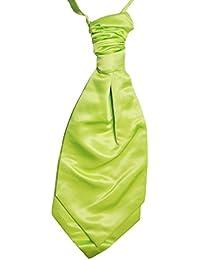 Mens and Boys Lime Green Satin Wedding Cravat