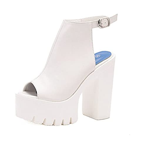 Women's High Heels Platform Party Outdoor Sandal white / US 4.5