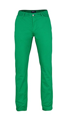 Herren Chino Hose in vielen Modefarben Sommerhose Herrenhose , Farbe:KELLY GREEN;Größen:34/34 (Chino Grüne Hose)