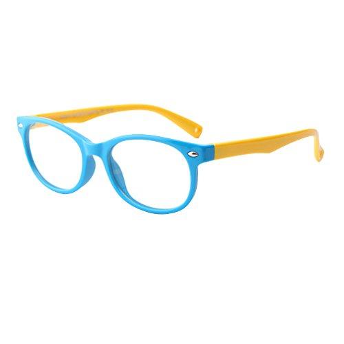Hibote Mädchen Junge Brillen - Silikon - Clear Lens Glasses Frame Geek/Nerd Brillen mit Car Shape Gläser Fall - 18071008