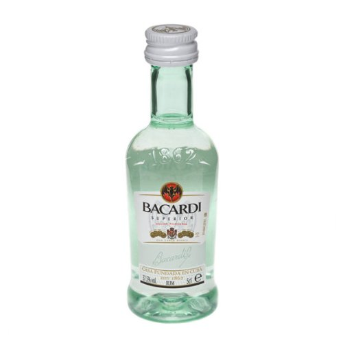 Bacardi Carta Blanca Superior White Puerto Rican Rum (12 x 5cl Miniature...