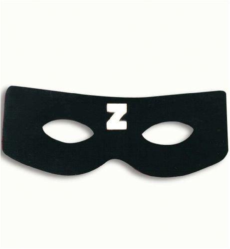 Domino Maske schwarzer Rächer