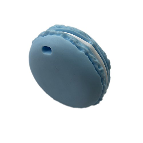 INCHANT Stilvolle Baby-Dentitionspielzeug, Silikon Zahnen Halskette für Mütter, BPA frei, FDA genehmigt (blau Macaron)