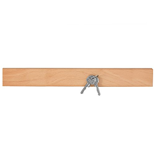 NATUREHOME Schlüsselbrett Magnetleiste für Messer Buchen-Holz geölt 550mm Bild Es Buchen