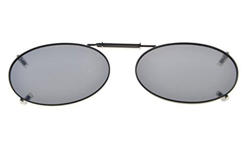 Eyekepper Metallrahmen Felge polarisierte Linse Clip auf Sonnenbrille 43x30MM Grau Linse