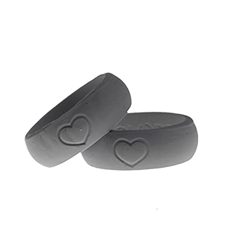 """Slope Silicone Men's Wedding Ring, Safe, Tough, and Durable Wedding Ring for Athletes, Craftsmen, Tradesmen, Electricians, Firemen, Travelers, Bikers, Campers, Outdoor Adventurers """"Always On and showing your"""