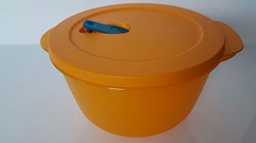 Tupperware Mikrowelle Mikro-Fix 2000ml orange XXL Schüssel mit Deckel Premeal Gefriertruhe Büro Großes Tupperware Salat Schüssel