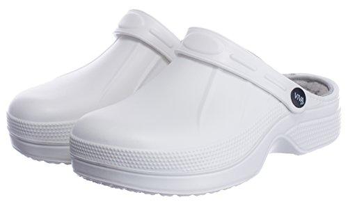Brandsseller Sabots Femme Blanc / Gris