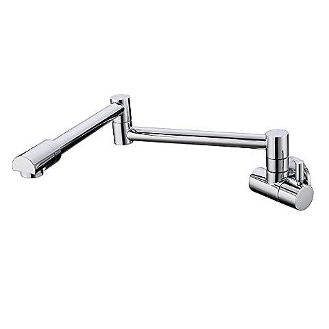 Modern Folding Wasserhahn Folding Swing Arm Rostfreier Legierung 360 ̊ Revolve Single Cold Wasserhahn Hanging Handtuch an der Wand