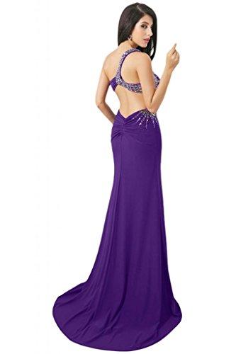 Sunvary Sexy spalle retro aperto guaina Sweetheart Gowns Sera Sera Purple