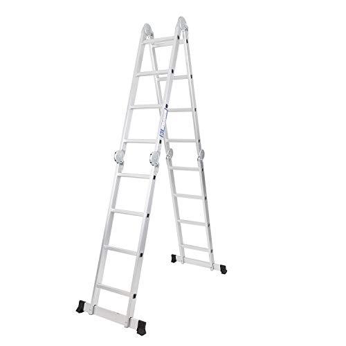 soges 4.7 m Escalera multiusos Escalera plegable Escalera de aluminio Extensible y versátil KS-JF-403G