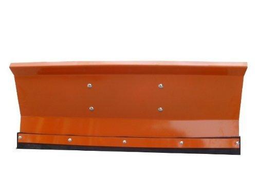 Schneepflug Schneeschild Räumschild Orange gekantet mit Universalhalterung/Breite: 150 cm/Höhe: 40 cm / 3-stufig verstellbar/für Einachser Rasenmäher-Trecker