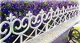 Zaun im Landhausstil verspielt und romantisch Friesenzaun kleiner Gartenzaun im Set zu 4 Stück 2,40...