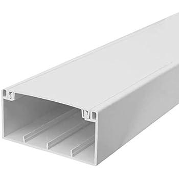 SCOS Smartcosat SCOSKK187 16 m Br/üstungskanal wei/ß L x B x H 2000 x 100 x 50 mm, PVC, Kabelleiste, Schraubbar