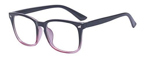 Outray Blue Light Block Brille Square Optical Brillen Nicht verschreibungspflichtige Brillengestell für Frauen/Männer Schwarz Rosa