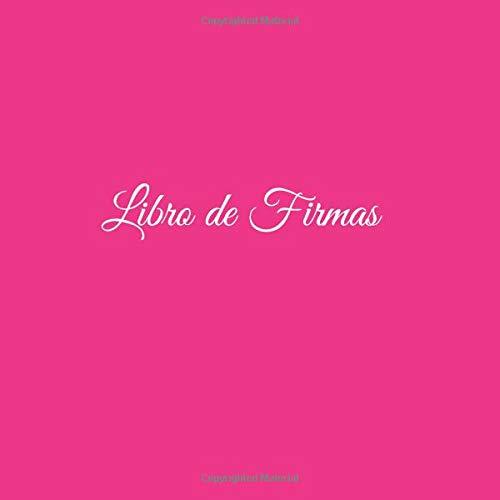 Libro de Firmas ....: Libro de Firmas para bodas eventos fiesta comunion bautizo cumpleanos baby shower restaurante hotel decoracion accesorios ideas regalos fiesta hogar boda visitas Cubierta Rosa