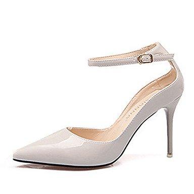 Moda Donna Sandali Sexy donna caduta tacchi Comfort brevetto Casual in pelle Stiletto Heel Hook & Loop Nero / Giallo / rosa / rosso / grigio altri Pink