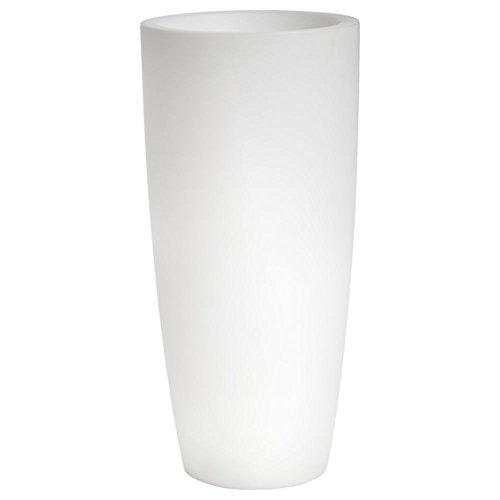 hydroflora 63005000 Maceta luminosa LED Nicoli Talos Light, diámetro 33 cm, altura 70 cm, ideal para entornos exteriores, blanco frío