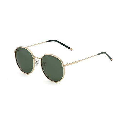 YIWU Brillen 2019 Polarisierte Sonnenbrille Frauen Fahren Sonnenbrille Rundes Gesicht Europäischen Und Amerikanischen Retro-Stil Brillen & Zubehör (Color : Dark Green)