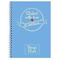 Miss Pretty London Personalised Baked With Love Recipes A5 Notebook