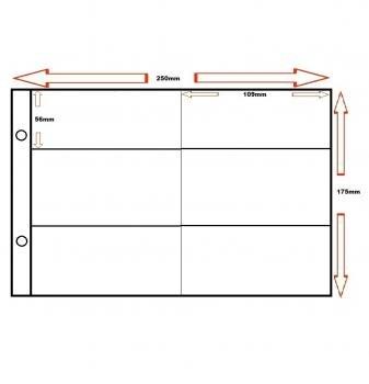 50 Additional Pages for Glen Binders - 6 (long) Pocket - 110mm x 52mm - Doncella Test