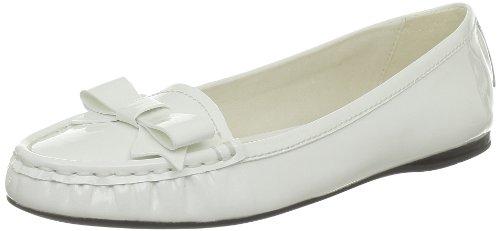 Geox - D Primula S, Mocassini Donna bianco (Blanc (C1000))