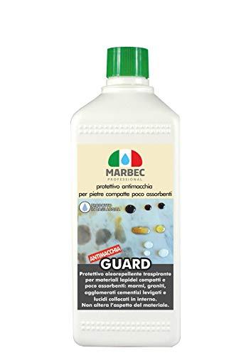 Marbec - guard 1lt | protettivo antimacchia per pietre, graniti, marmi e graniglie compatte e poco assorbenti