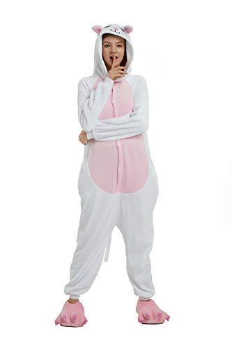 Kauson Unisex Einhorn Pyjamas Onesie Karton Animal Cosplay Fasching Kostüm Warm Gefüttert Body Overall Tier Nachtwäsche Kigurumi Karneval Halloween Weihnachten Xmas Pyjamas Sleepwear (Halloween-kostüme Kung Panda Fu Für Erwachsene)