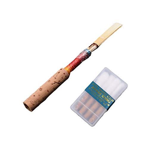 4 Stücke Oboe Reed mit Case, Medium Weiche Oboe Schilf Handmade Oboe Blätter Musikinstrument Zubehör Medium Soft Case