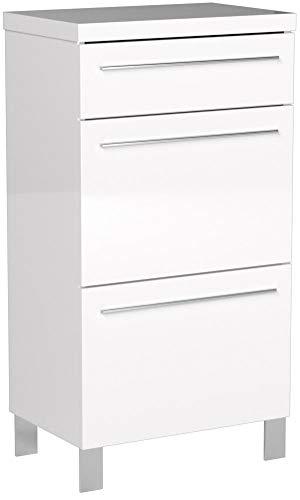 Trendteam Garderoben Kommode, weiß hochglanz, 54 x 100 x 35 cm