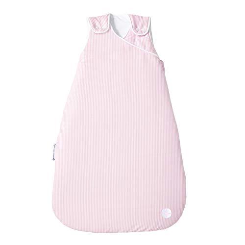 Kinderschlafsack Mädchen 110 cm nordic coast | Baby Rosa Weiss gestreift | für 18-21° Raumtemperatur | 18-36 Monate | Ideal für Baby Stubenwagen