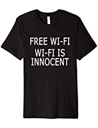 Free WiFi Wi-Fi unschuldig ist Wireless Computer Nerd T-Shirt b9f6f33b06