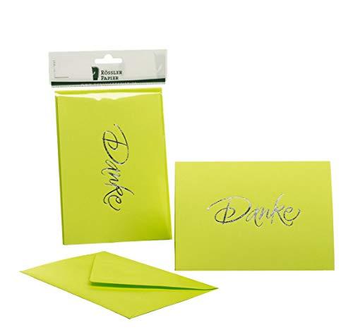 R/össler 1181956045 con orchidea Confezione biglietti B6 con scritta in tedescoDanke grazie 120//240 x 169 mm