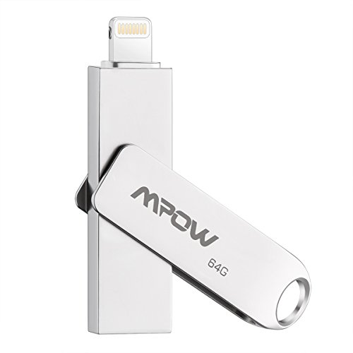 Flash Drive Alta Capacità Lampo Flash Drive 64GB Mpow iPhone 64GB USB 3.0 con Connettore Lightning per iPad IOS & PC