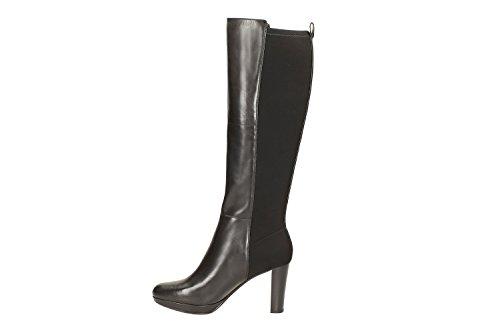 Clarks Kendra Glove, Bottes hautes Classiques Femme Noir
