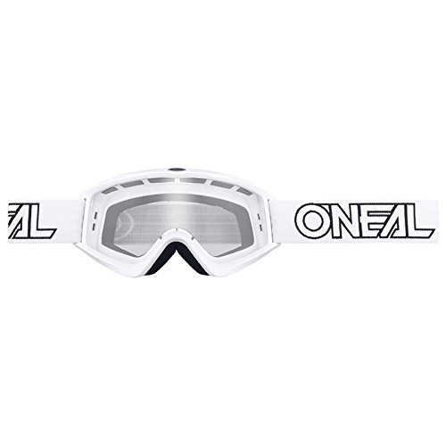 O'Neal B-Zero Goggle Moto Cross MX Brille Downhill Enduro Motorrad Mountainbike, 6025-10, Farbe weiß